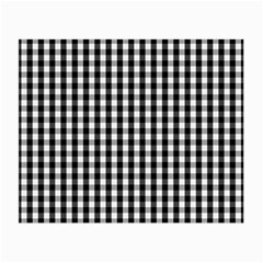 Small Black White Gingham Checked Square Pattern Small Glasses Cloth
