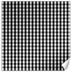 Small Black White Gingham Checked Square Pattern Canvas 20  X 20