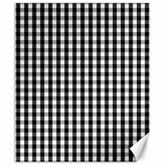 Small Black White Gingham Checked Square Pattern Canvas 20  x 24