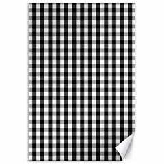 Small Black White Gingham Checked Square Pattern Canvas 20  x 30