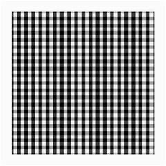 Small Black White Gingham Checked Square Pattern Medium Glasses Cloth