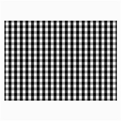 Small Black White Gingham Checked Square Pattern Large Glasses Cloth