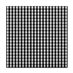 Small Black White Gingham Checked Square Pattern Face Towel