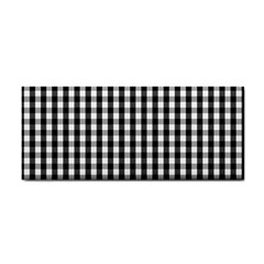 Small Black White Gingham Checked Square Pattern Cosmetic Storage Cases