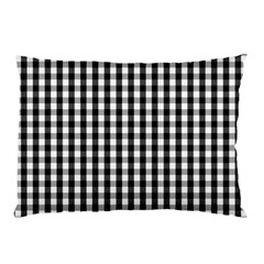 Small Black White Gingham Checked Square Pattern Pillow Case