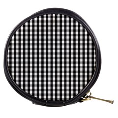 Small Black White Gingham Checked Square Pattern Mini Makeup Bags