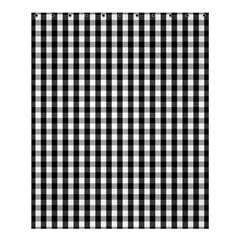 Small Black White Gingham Checked Square Pattern Shower Curtain 60  x 72  (Medium)