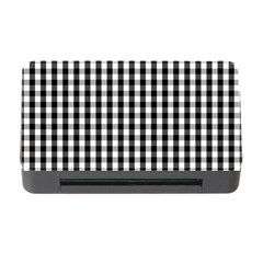 Small Black White Gingham Checked Square Pattern Memory Card Reader with CF