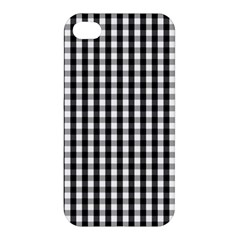 Small Black White Gingham Checked Square Pattern Apple iPhone 4/4S Hardshell Case