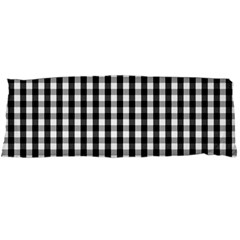 Small Black White Gingham Checked Square Pattern Body Pillow Case Dakimakura (Two Sides)