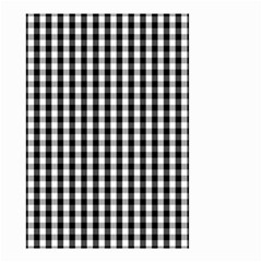 Small Black White Gingham Checked Square Pattern Small Garden Flag (Two Sides)