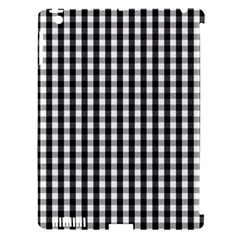 Small Black White Gingham Checked Square Pattern Apple iPad 3/4 Hardshell Case (Compatible with Smart Cover)