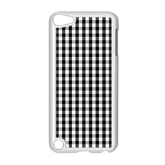 Small Black White Gingham Checked Square Pattern Apple iPod Touch 5 Case (White)