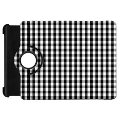 Small Black White Gingham Checked Square Pattern Kindle Fire HD 7