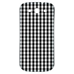 Small Black White Gingham Checked Square Pattern Samsung Galaxy S3 S III Classic Hardshell Back Case