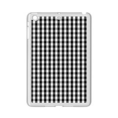 Small Black White Gingham Checked Square Pattern iPad Mini 2 Enamel Coated Cases