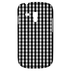 Small Black White Gingham Checked Square Pattern Galaxy S3 Mini