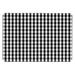 Small Black White Gingham Checked Square Pattern Samsung Galaxy Tab 8.9  P7300 Flip Case