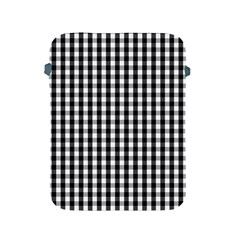 Small Black White Gingham Checked Square Pattern Apple iPad 2/3/4 Protective Soft Cases