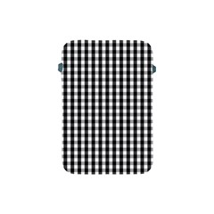 Small Black White Gingham Checked Square Pattern Apple Ipad Mini Protective Soft Cases