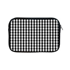 Small Black White Gingham Checked Square Pattern Apple iPad Mini Zipper Cases