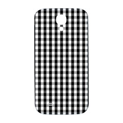 Small Black White Gingham Checked Square Pattern Samsung Galaxy S4 I9500/I9505  Hardshell Back Case