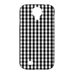 Small Black White Gingham Checked Square Pattern Samsung Galaxy S4 Classic Hardshell Case (PC+Silicone)