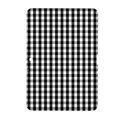 Small Black White Gingham Checked Square Pattern Samsung Galaxy Tab 2 (10.1 ) P5100 Hardshell Case