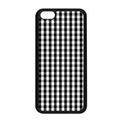 Small Black White Gingham Checked Square Pattern Apple iPhone 5C Seamless Case (Black)