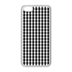 Small Black White Gingham Checked Square Pattern Apple iPhone 5C Seamless Case (White)