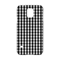Small Black White Gingham Checked Square Pattern Samsung Galaxy S5 Hardshell Case