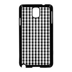 Small Black White Gingham Checked Square Pattern Samsung Galaxy Note 3 Neo Hardshell Case (Black)