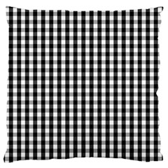 Small Black White Gingham Checked Square Pattern Standard Flano Cushion Case (Two Sides)