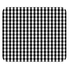 Small Black White Gingham Checked Square Pattern Double Sided Flano Blanket (Small)