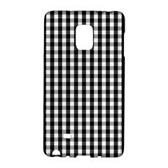 Small Black White Gingham Checked Square Pattern Galaxy Note Edge