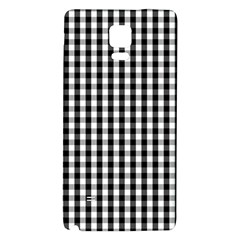 Small Black White Gingham Checked Square Pattern Galaxy Note 4 Back Case