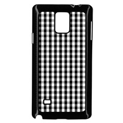 Small Black White Gingham Checked Square Pattern Samsung Galaxy Note 4 Case (Black)