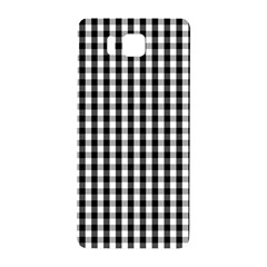Small Black White Gingham Checked Square Pattern Samsung Galaxy Alpha Hardshell Back Case