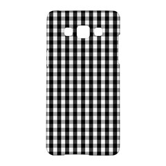 Small Black White Gingham Checked Square Pattern Samsung Galaxy A5 Hardshell Case