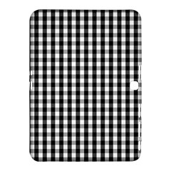 Small Black White Gingham Checked Square Pattern Samsung Galaxy Tab 4 (10.1 ) Hardshell Case
