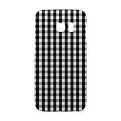 Small Black White Gingham Checked Square Pattern Galaxy S6 Edge