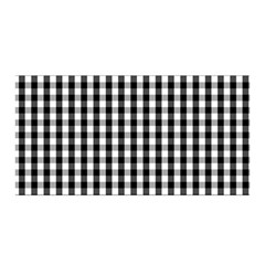 Small Black White Gingham Checked Square Pattern Satin Wrap