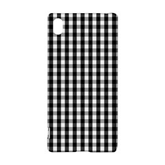 Small Black White Gingham Checked Square Pattern Sony Xperia Z3+