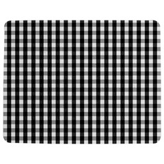 Small Black White Gingham Checked Square Pattern Jigsaw Puzzle Photo Stand (Rectangular)