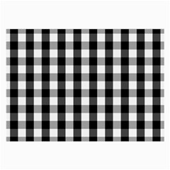Large Black White Gingham Checked Square Pattern Large Glasses Cloth (2-Side)