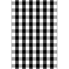 Large Black White Gingham Checked Square Pattern 5.5  x 8.5  Notebooks
