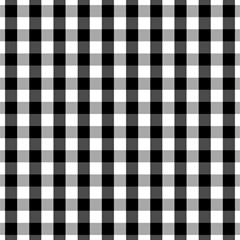Large Black White Gingham Checked Square Pattern Magic Photo Cubes