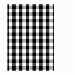Large Black White Gingham Checked Square Pattern Small Garden Flag (Two Sides)