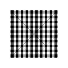 Large Black White Gingham Checked Square Pattern Acrylic Tangram Puzzle (4  x 4 )