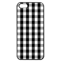 Large Black White Gingham Checked Square Pattern Apple iPhone 5 Seamless Case (Black)